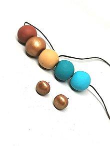 Sady šperkov - Hnedo- tyrkysové - 11312681_