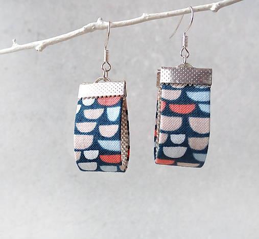 Textilné náušnice Oblúčiky