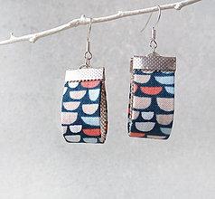 Náušnice - Textilné náušnice Oblúčiky - 11311303_