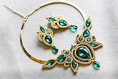 Sady šperkov - Soutache sada - Emerald - 11313666_