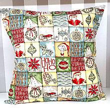 Úžitkový textil - Vankúš Vianočný (štvorec) - 11313392_
