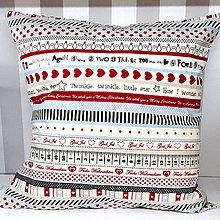 Úžitkový textil - Vankúš Vianočný (pásik) - 11313395_