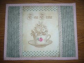 Úžitkový textil - Prestieranie Tea Time-1 - 11313326_