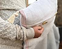 Úžitkový textil - Obliečka na vankúš z hrubého ľanového plátna - 11313618_