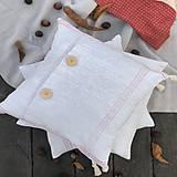 Úžitkový textil - Obliečka na vankúš z hrubého ľanového plátna - 11313622_