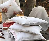 Úžitkový textil - Obliečka na vankúš z hrubého ľanového plátna - 11313625_
