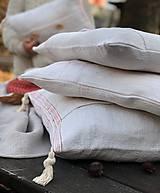 Úžitkový textil - Obliečka na vankúš z hrubého ľanového plátna - 11313637_