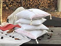 Úžitkový textil - Obliečka na vankúš z hrubého ľanového plátna - 11313642_
