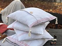 Úžitkový textil - Obliečka na vankúš z hrubého ľanového plátna - 11313703_