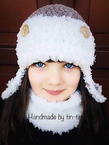 Detské čiapky - Letecká ušianka - 11313017_
