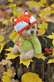 Hračky - Háčkovaný medvedík - 11312795_