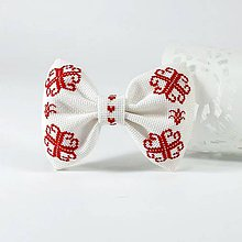 Doplnky - Pánsky motýlik VII folk vyšívaný - 11313675_