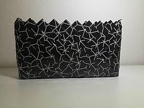 Kabelky - Čierno biela ecoistka - 11315252_