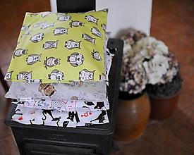 Textil - Sovičky a mačičky - 11311746_
