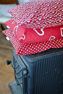 Úžitkový textil - Veľké srdiečkové - 11311839_