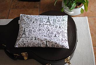 Úžitkový textil - Vankúš Paríž - 11311874_