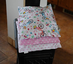 Úžitkový textil - Bodky a bicykle - 11311904_