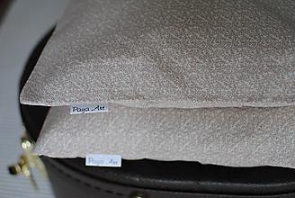 Úžitkový textil - Béžové vankúše - 11311905_