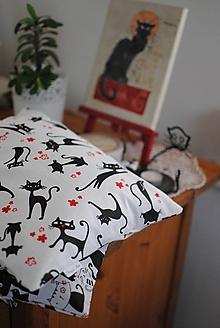 Úžitkový textil - Čierne mačky - 11311939_