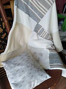 Textil - Obláčikový vankúšik a dečka - 11312355_