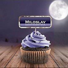 Papiernictvo - Menovka na cupcake do tmy - 11313263_