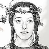 Obrazy - Anna ze Zeleného domu - kresba, A4 - 11319263_