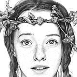Obrazy - Anna ze Zeleného domu - kresba, A4 - 11319269_