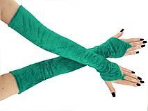 Rukavice - Plesové dlhé spoločenské rukavice do opery 0955 (Tyrkysová) - 11320082_