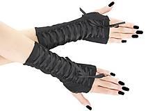 Rukavice - Dámské gothic rukavice so šnurovaní 0295 (Šedá) - 11320168_