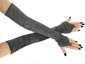 Rukavice - Plesové dlhé spoločenské rukavice do opery 0955 (Biela) - 11320081_