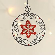 Dekorácie - vianočná dekorácia hviezda (Červená) - 11316383_
