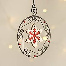 Dekorácie - vianočná dekorácia hviezda (Biela) - 11316397_