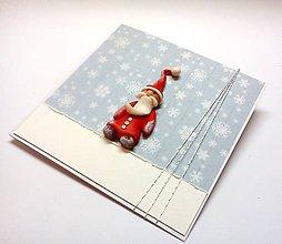 Papiernictvo - Pohľadnica ... vianočný škriatok - 11318433_