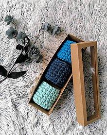 Dekorácie - Sada háčkovaných minikošíkov v krabici (variant 2) - 11317125_