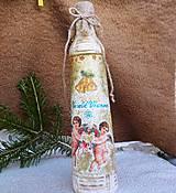 Nádoby - Zlatá fľaša-anieliky - 11318558_