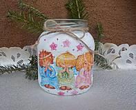Svietidlá a sviečky - Vianočný pohár-anieličkovia - 11318627_