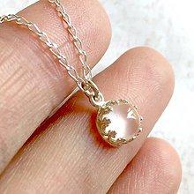 Náhrdelníky - Mini Rose Quartz AG925 Necklace / Strieborný náhrdelník s ruženínom /T0001 - 11317858_