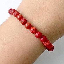 Náramky - Red Coral Bracelet / Elastický náramok červený koral - 11318618_