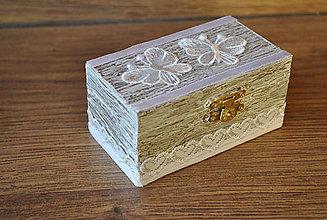Iné doplnky - Svadobna krabicka na obrucky - cipka - 11320759_