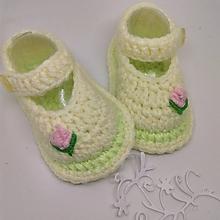 Topánočky - Háčkované topánočky - 11320071_