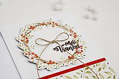 Papiernictvo - Vianočný pozdrav - venček II - 11317437_