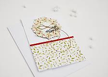 Papiernictvo - Vianočný pozdrav - venček I - 11317447_