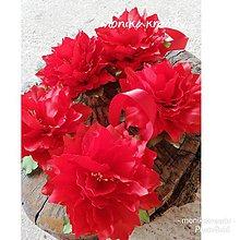 Dekorácie - Vianočná ruža na upevnenie závesov - 11316970_