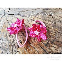 Detské doplnky - Gumička ružový kvietok - 11317001_
