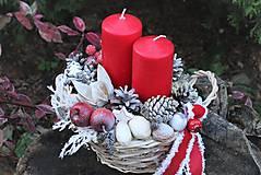 Dekorácie - Vianočný svietnik - 11316190_