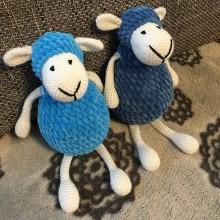 Hračky - Háčkované ovečky modré - 11319789_
