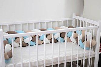 Textil - Detský mantinel štvorfarebný - 11318927_