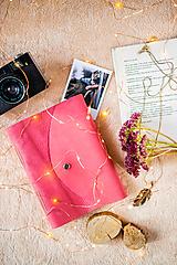 """Papiernictvo - Zápisník kožený ,,Princess"""" A5 nubuk ružový - 11315690_"""