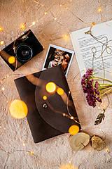 Papiernictvo - Fotoalbum * zápisník  kožený A5 nubuk tmavohnedá - 11315696_