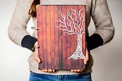 Papiernictvo - Fotoalbum svadobný * rodinný album A4 s autorskou kresbou stromu - 11315697_